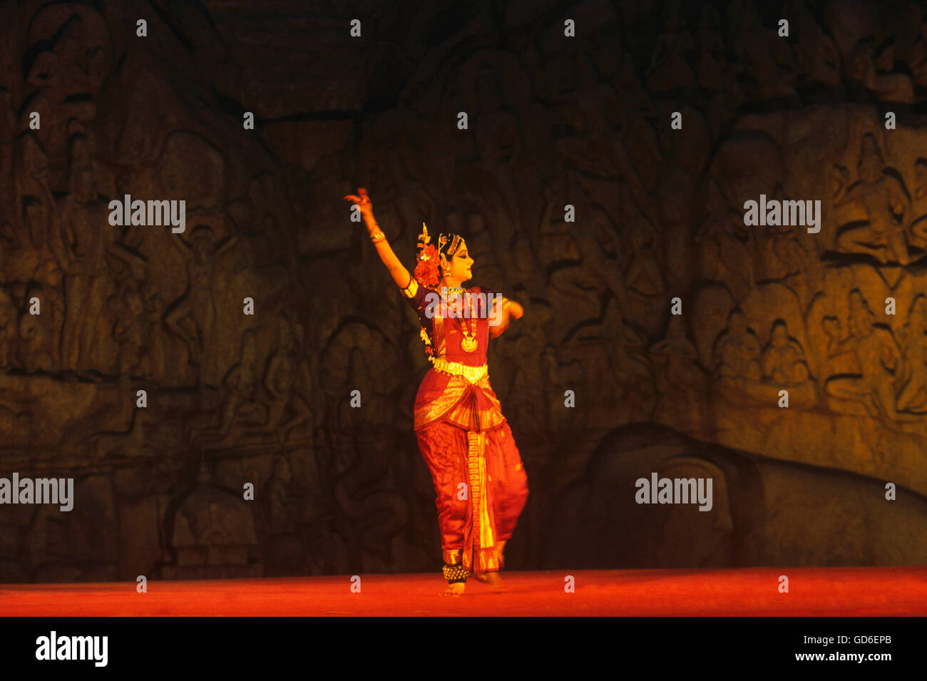Artiste dancing - Stock Image