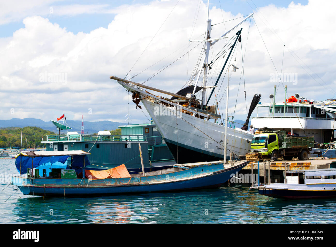 Labuan Bajo harbor - Stock Image