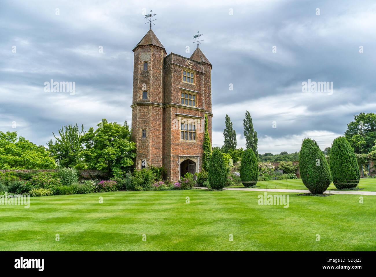 The Edwardian Tower at Sissinghurst - Stock Image