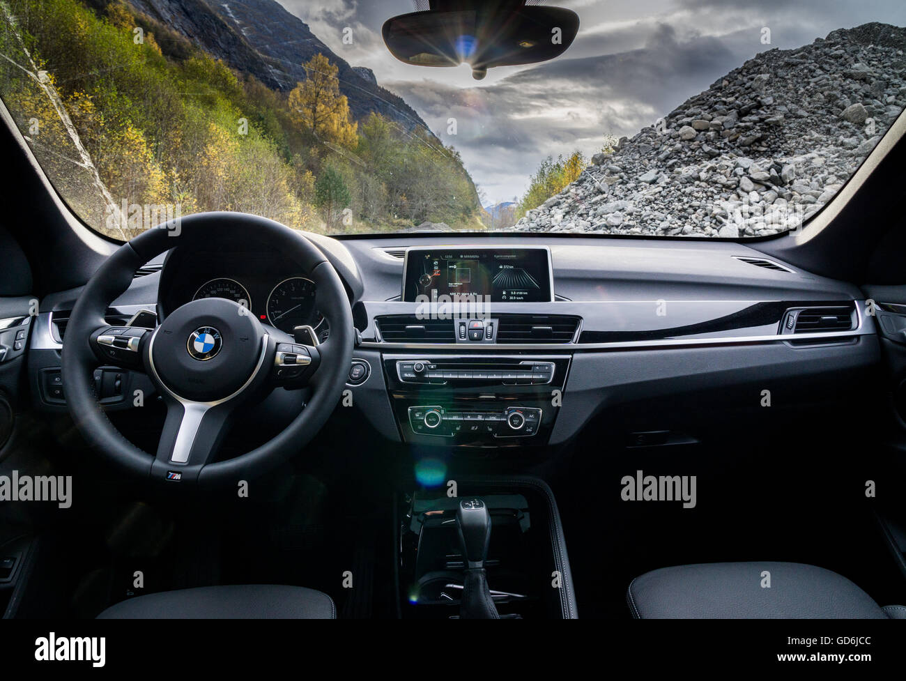 Bmw X1 Interior Stock Photo Alamy