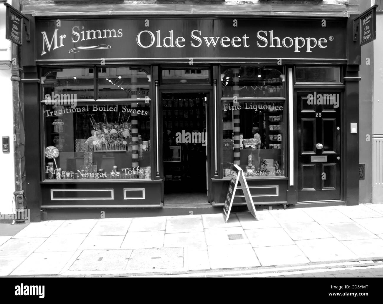London, Uk - August 17, 2010: outside view of an oldstyle sweet shop in London - Stock Image