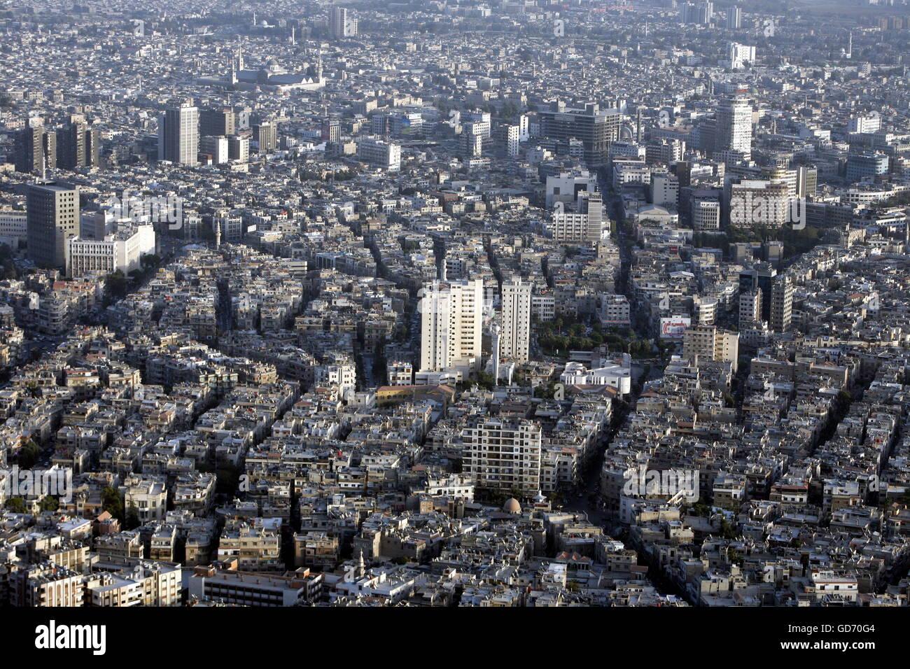 Asien, Naher Osten, Syrien, Damaskus,   Sicht ueber die Grossstadt von Damaskus der Hauptstadt von Syrien. - Stock Image