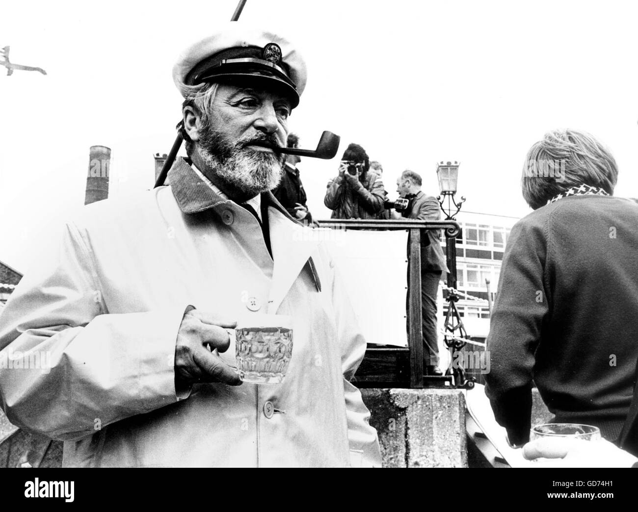 AJAX NEWS PHOTOS. 1973. PORTSMOUTH, ENGLAND. - WHITBREAD ROUND THE WORLD RACE. -  RACE COMMITTEE CHAIRMAN 1973  - Stock Image
