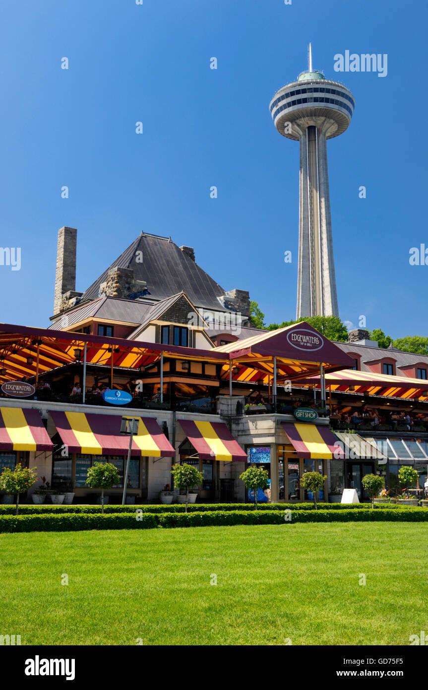 City View On Skylon Tower And Edgewaters Restaurant Niagara