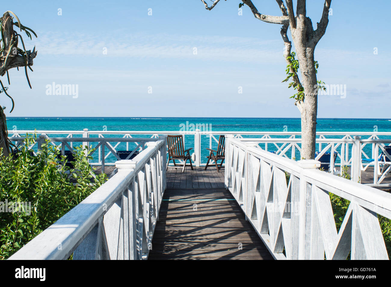 A tropical beach view. - Stock Image