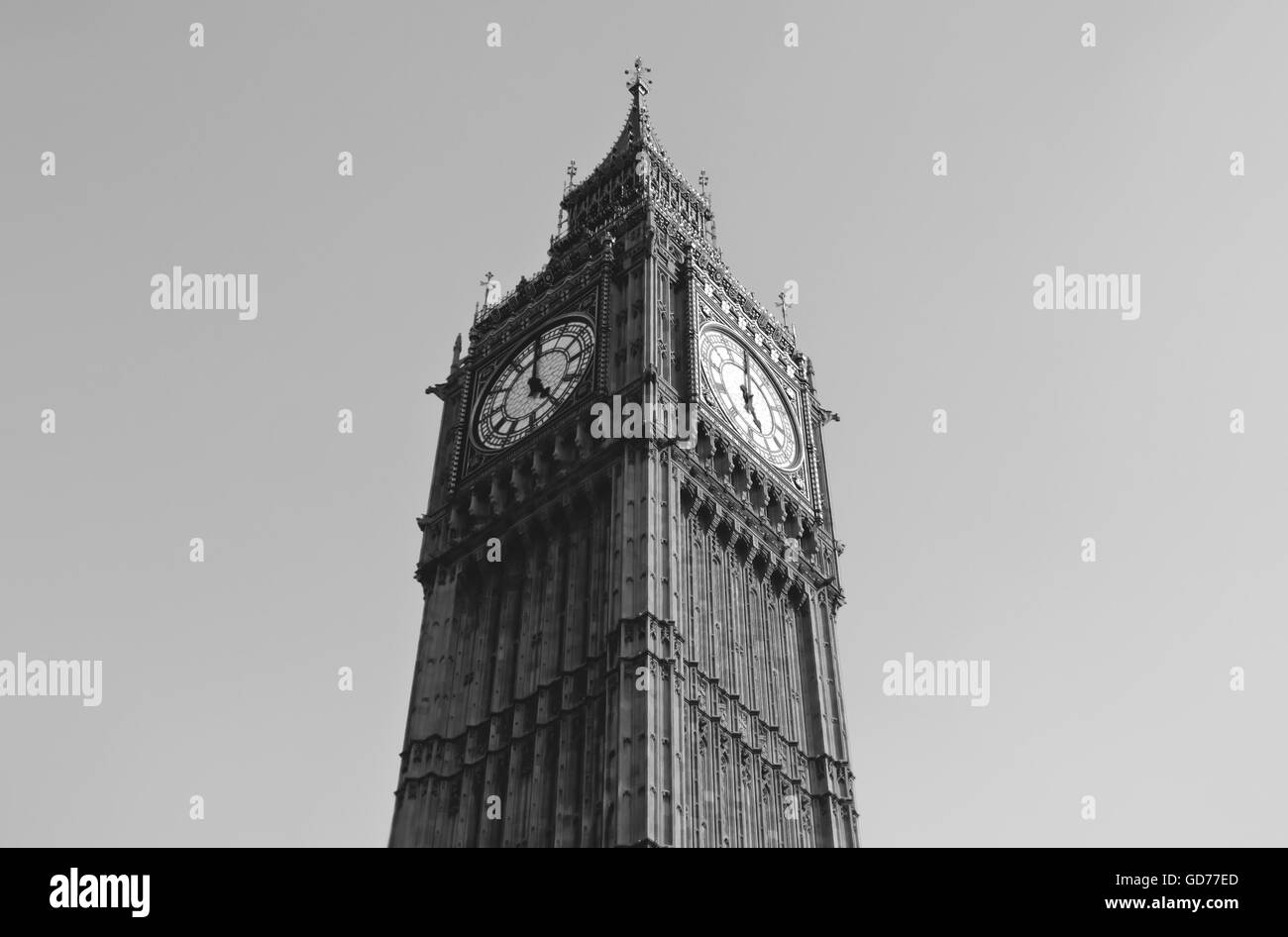 The London Big Ben in daylight - Stock Image