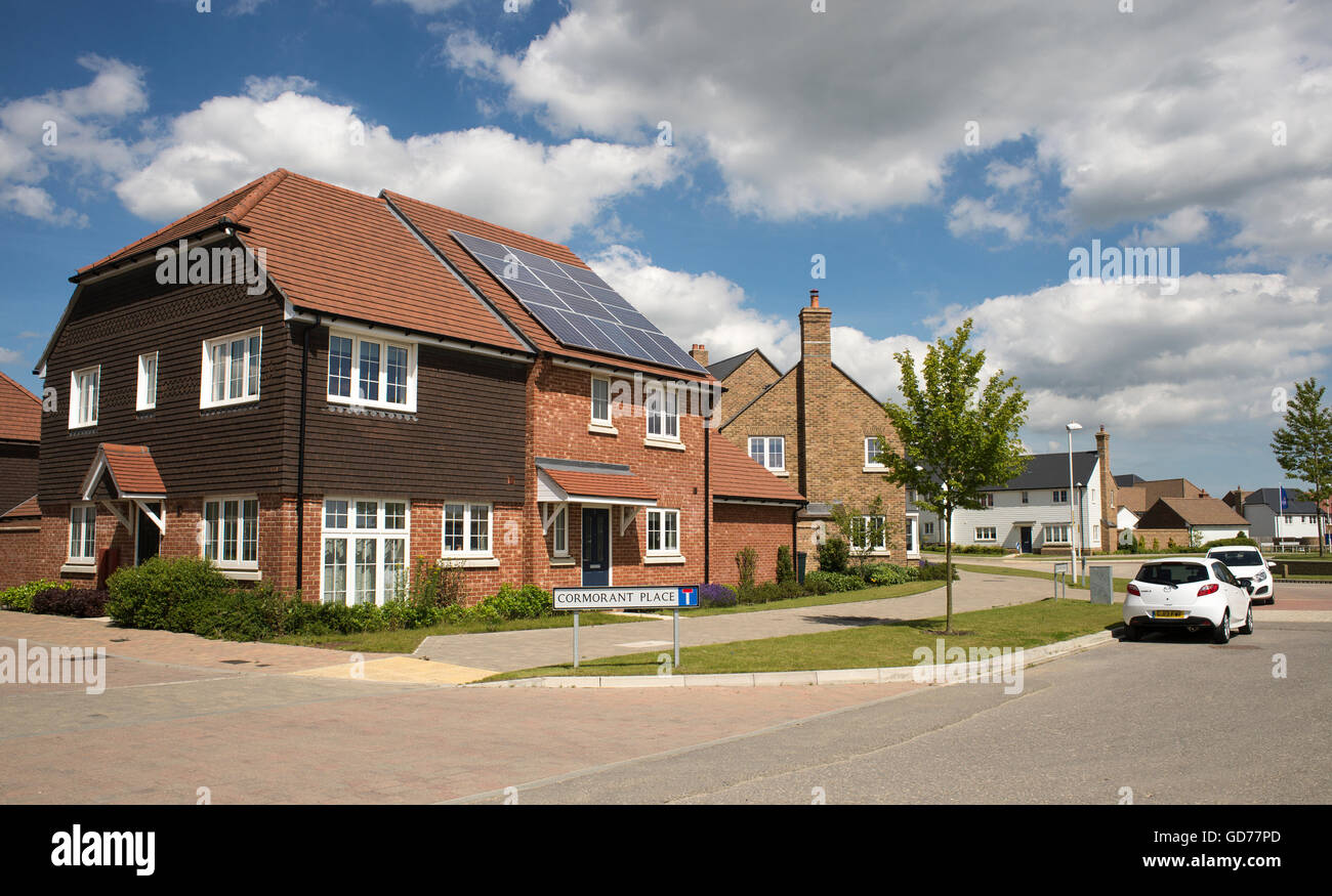 New build house on an estate in Ashford, Kent. - Stock Image