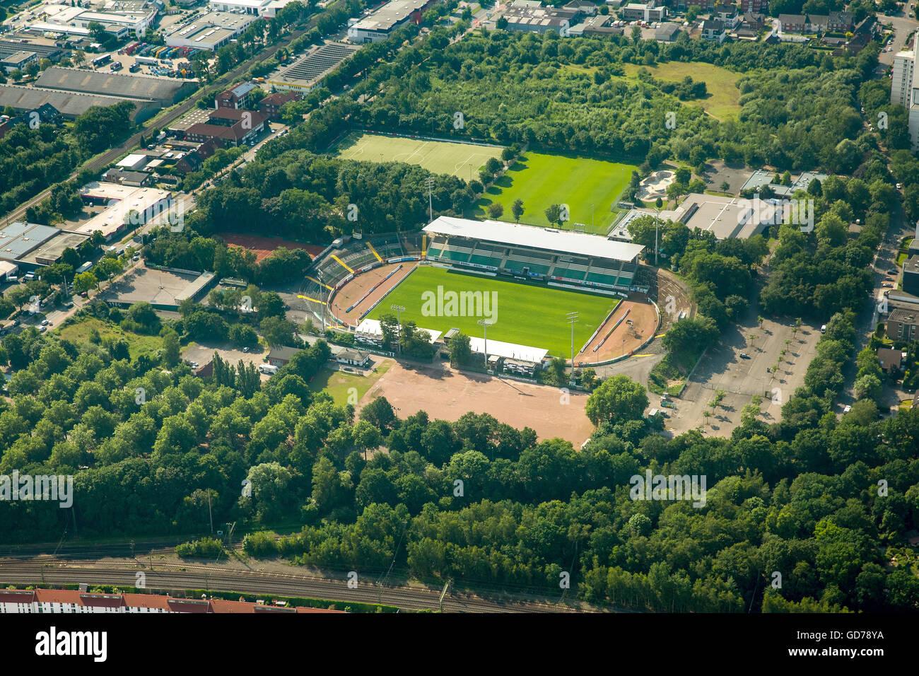 Aerial view, Prussia stadium Münster, SC Preussen Münster 06 e.V., Hammer Straße, Münster, Münsterland - Stock Image