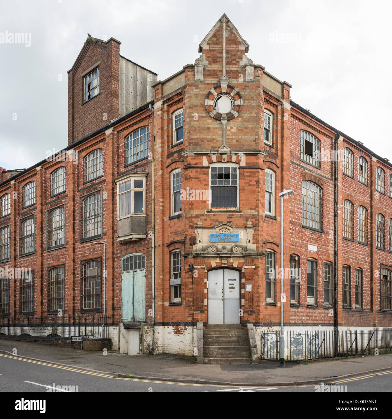 An old, disused factory building in Wellingborough Northamptonshire UK - Stock Image