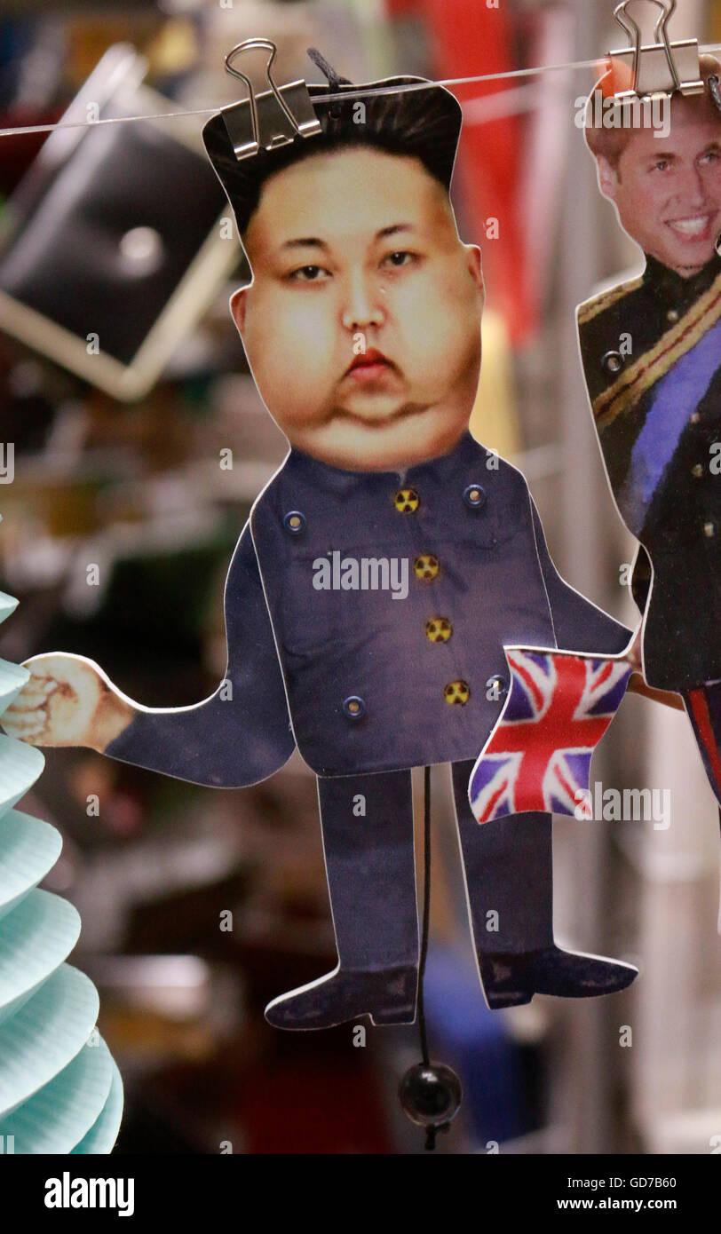 Kim Jong il - Marionette, Juni 2016, Berlin. - Stock Image