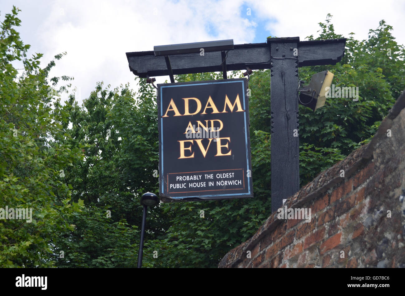 Adam & Eve pub, probably the oldest pub in Norwich, UK - Stock Image