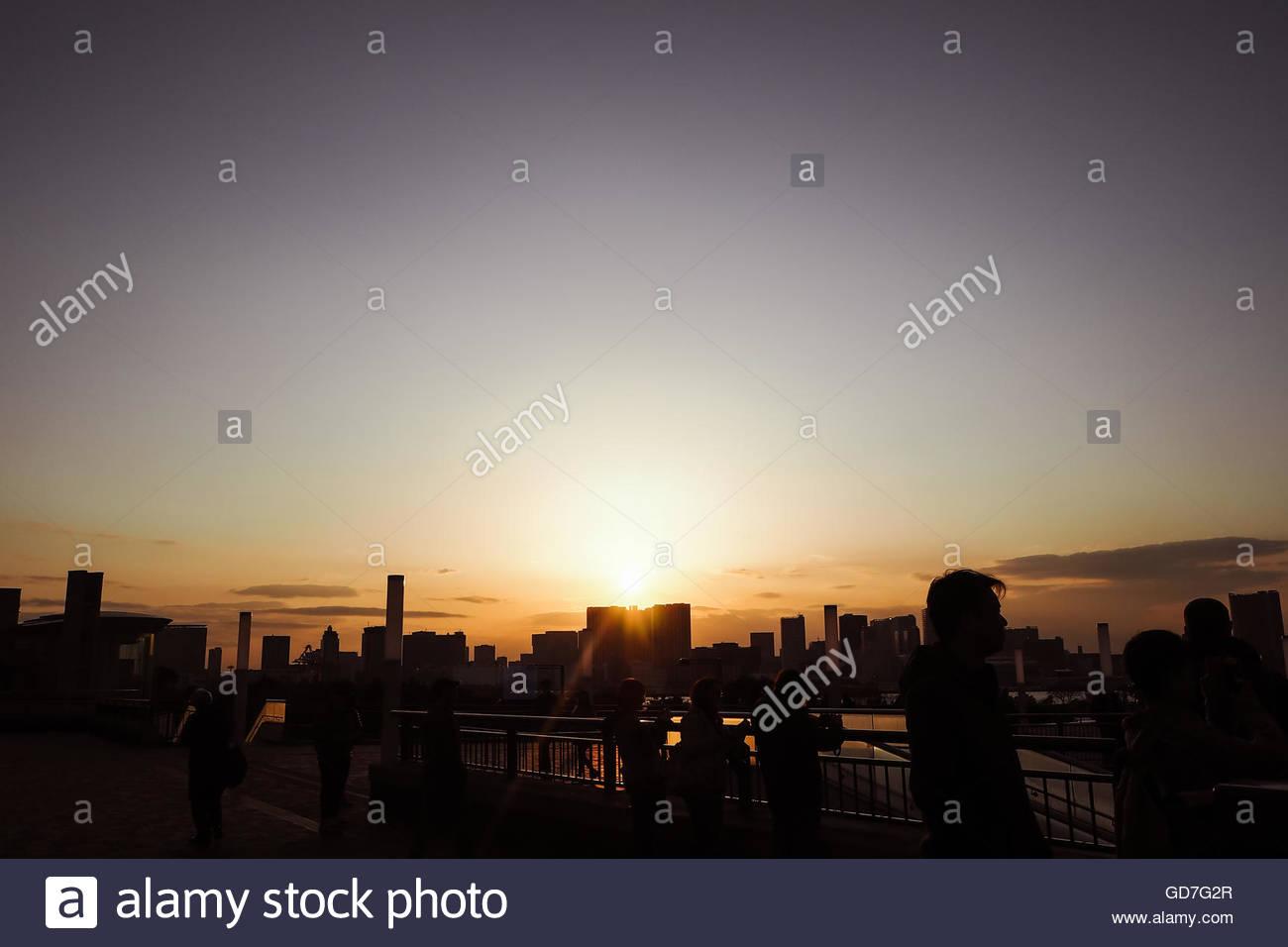 Beautiful Sunset in Tokyo - Stock Image