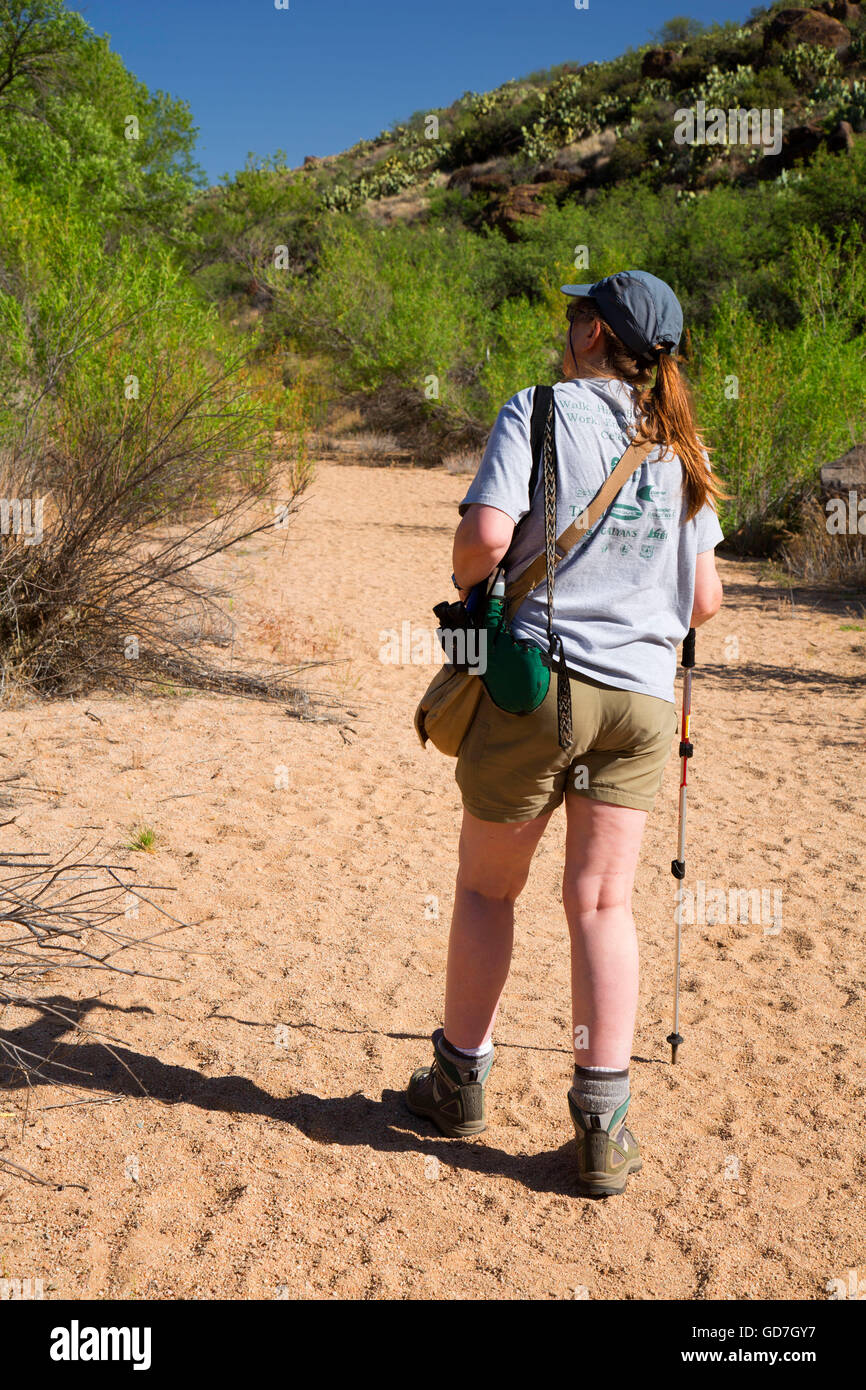 Badger Springs Trail, Agua Fria National Monument, Arizona - Stock Image