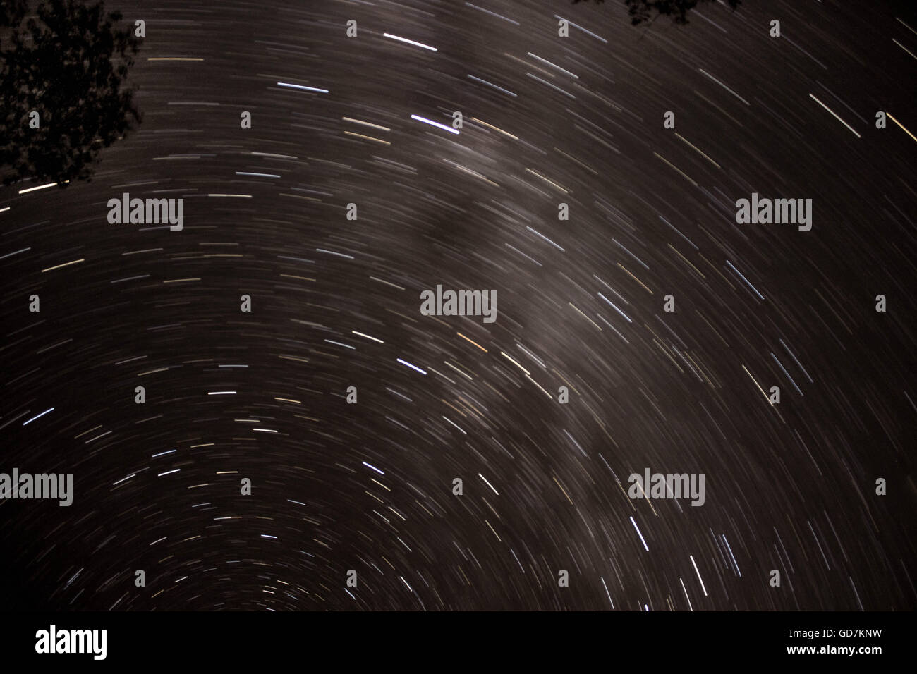 Spinning Stars in the Night Sky - Stock Image