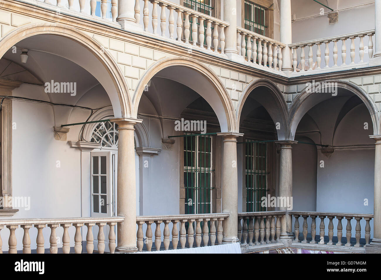 architectural arches in the Italian style the city of Lviv Stock