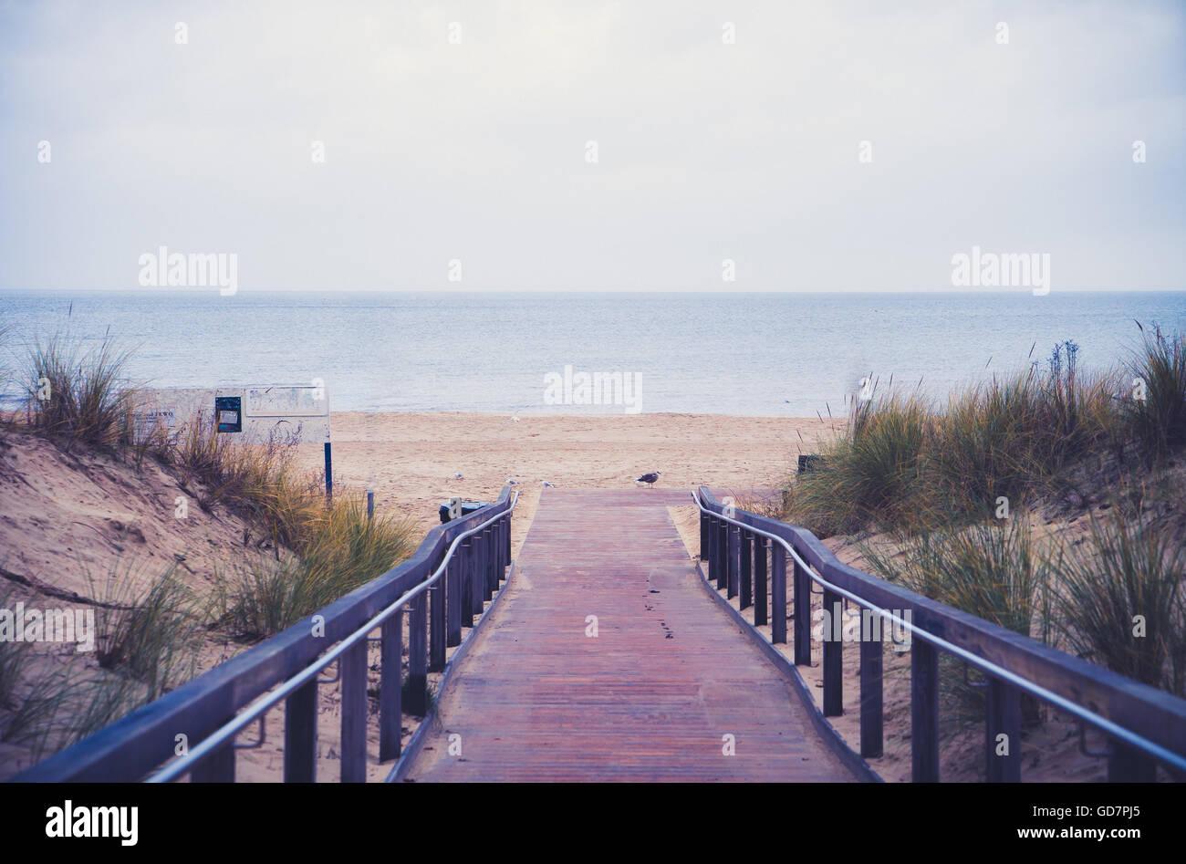 path to North sea beach - Stock Image