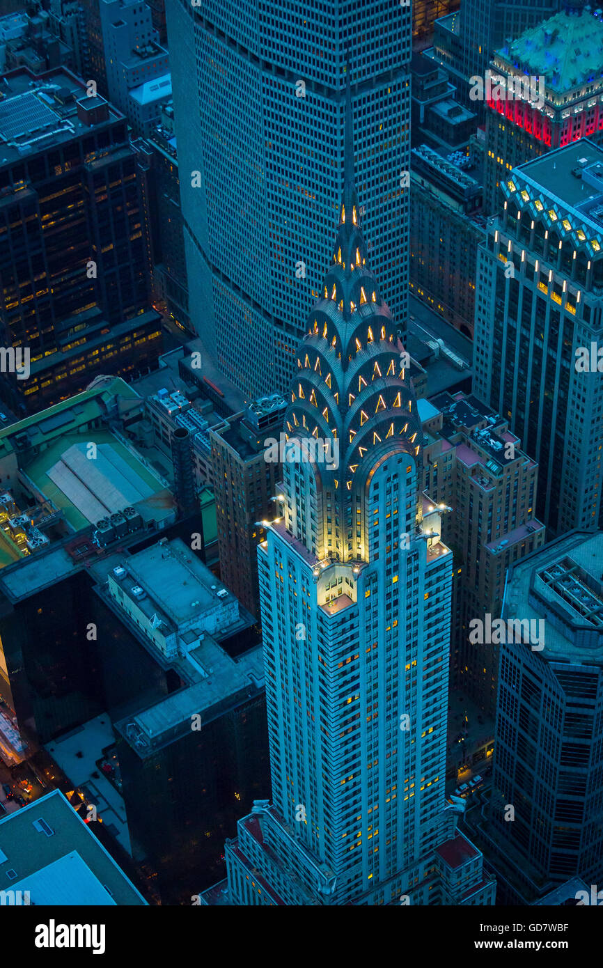 The Chrysler Building is an Art Deco-style skyscraper located on the East Side of Midtown Manhattan in New York - Stock Image