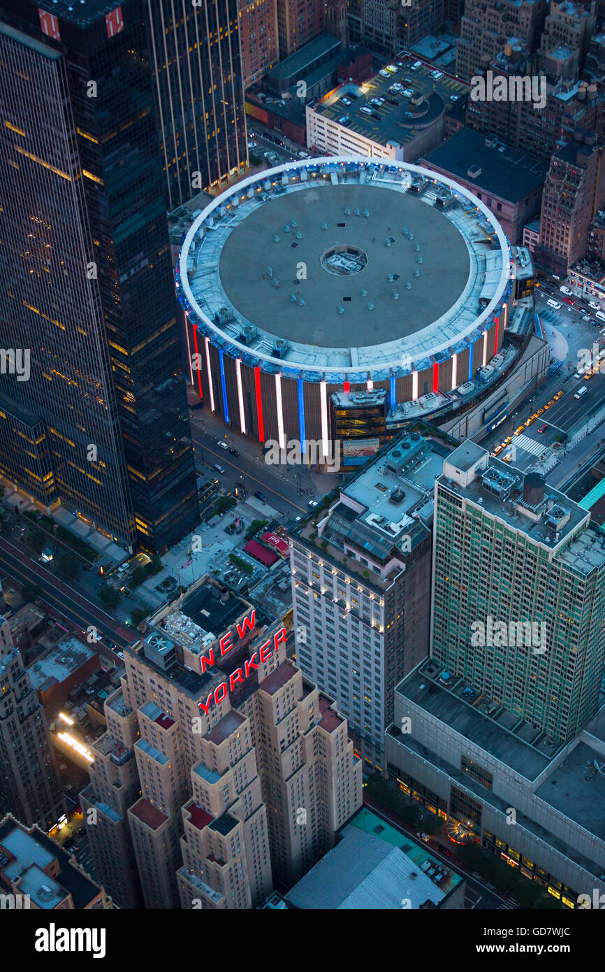 Madison Square Garden (often called MSG or simply The Garden) is a multi-purpose indoor arena in the New York City - Stock Image