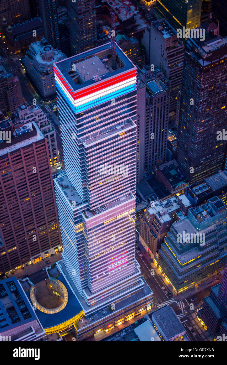 731 Lexington Avenue is a 1,400,000 sq ft glass skyscraper on the East Side of Midtown Manhattan, New York City. - Stock Image