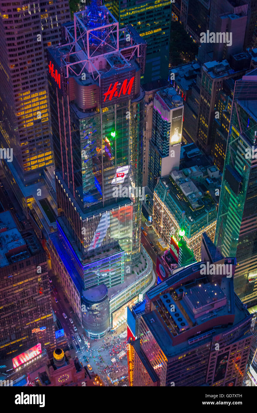 4 Times Square, formerly known as the Condé Nast Building, is a skyscraper in Times Square in Midtown Manhattan, - Stock Image