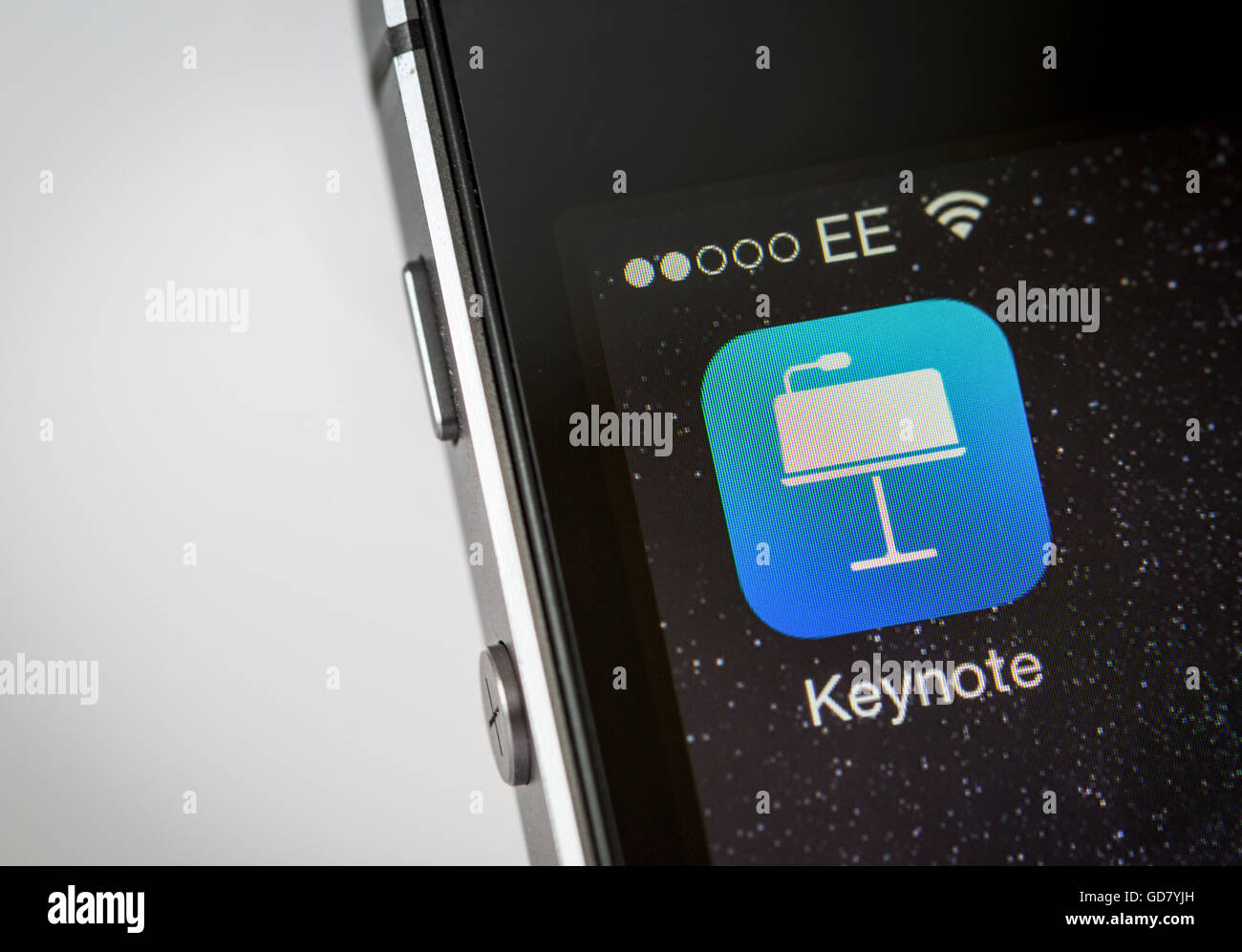 Apple Ketnote App on an iPhone smart phone - Stock Image