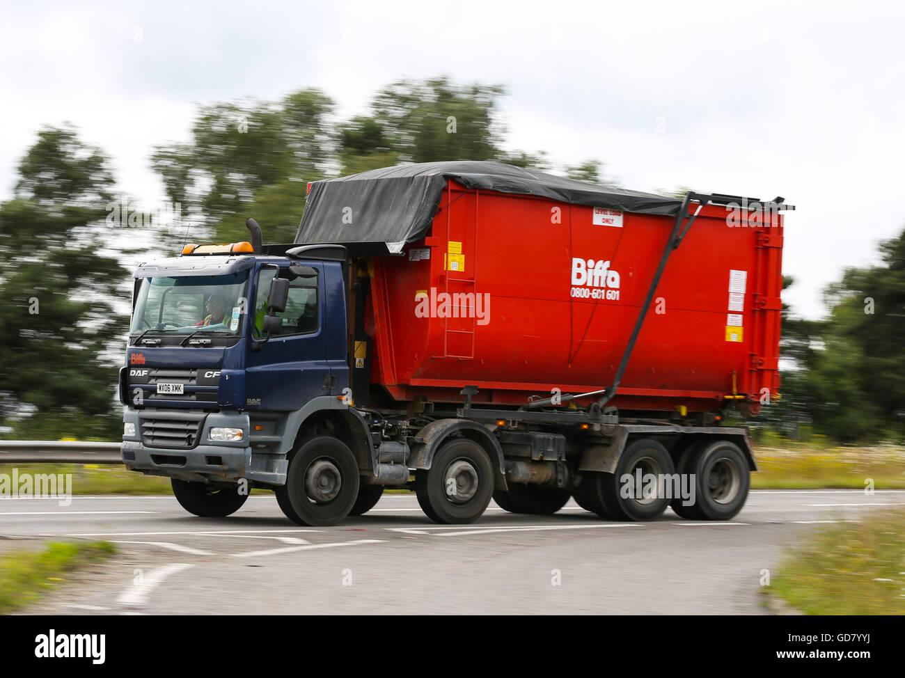 Biffa waste lorry - Stock Image