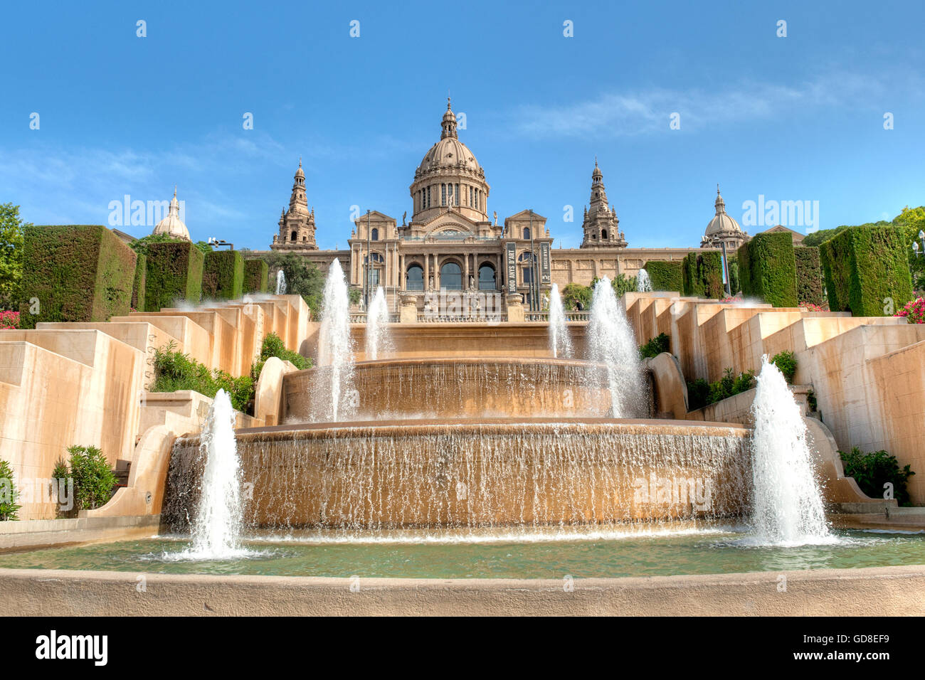 National Museum of arts building in Barcelona,Spain - Stock Image