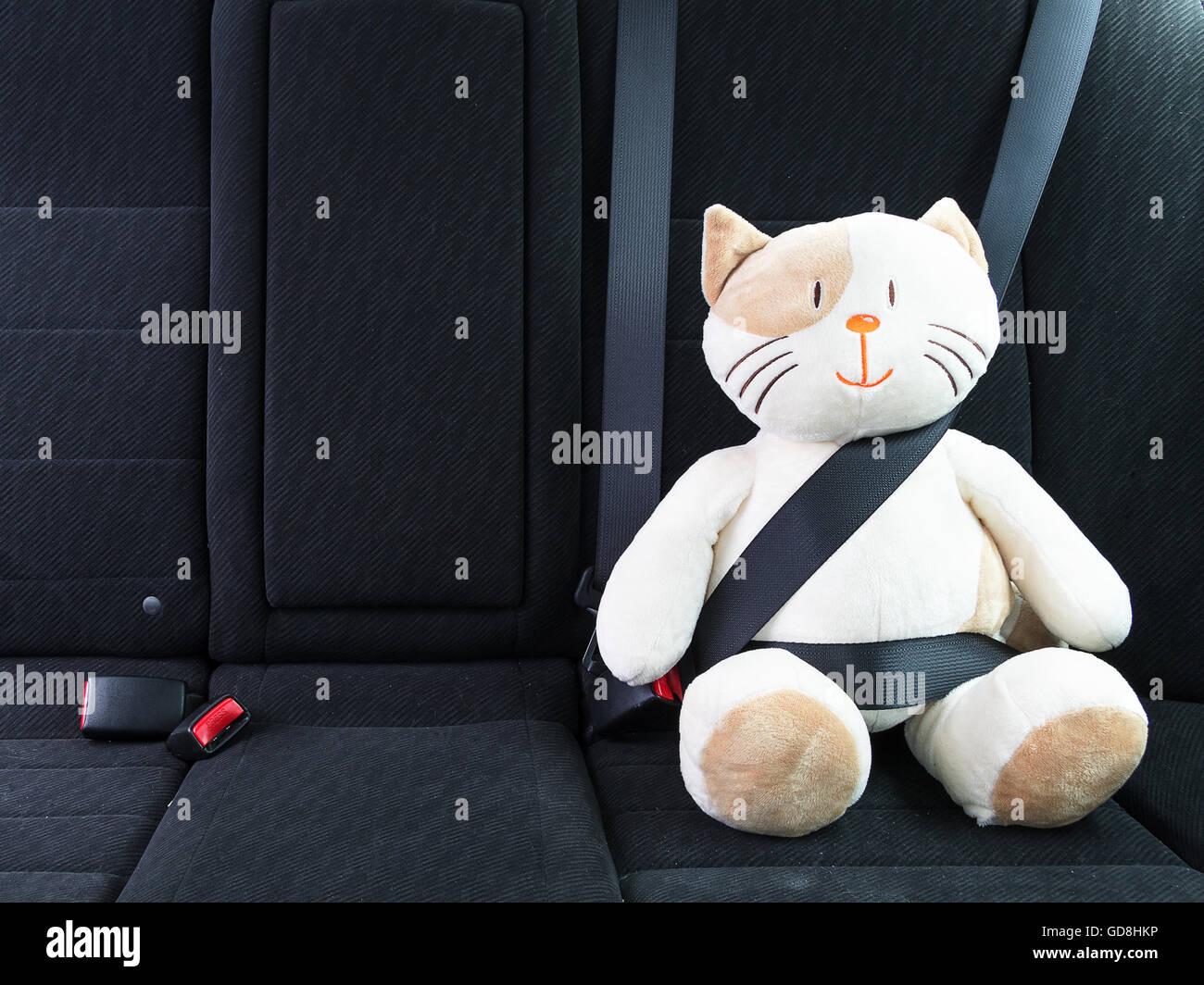 Stuffed Toy With Seat Belt Fastened Stock Photo 111442234 Alamy