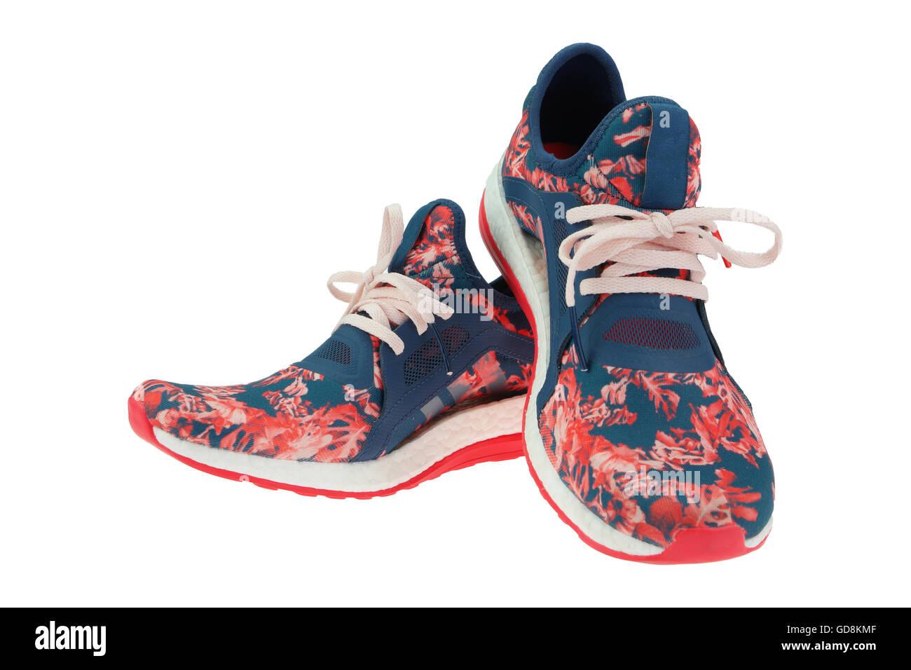 athletic shoes isolated Stock Photo