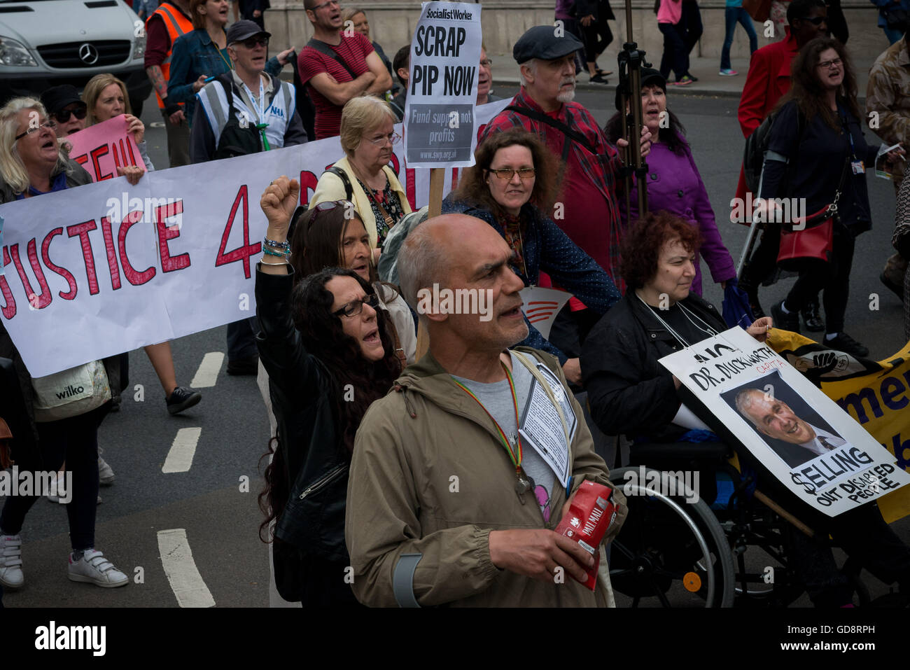 London, UK. 13th July, 2016. Personal independence payment (PIP) is a benefit for people who need help taking part - Stock Image