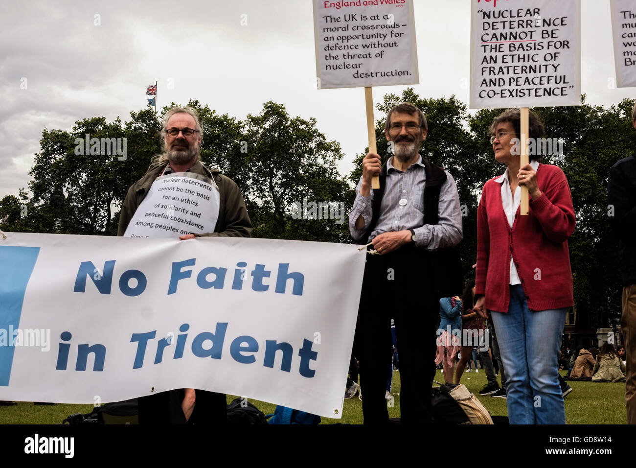 London, UK  13th July, 2016  Anti -Trident Protesters in Parliament