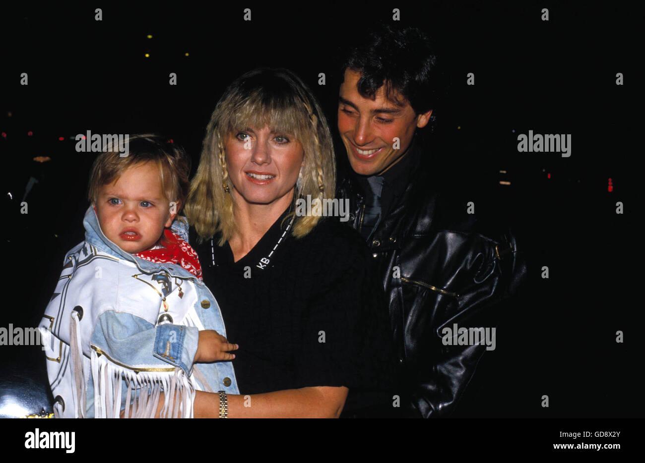 Olivia Newton John With Husband Matt Lattanzi And Daughter