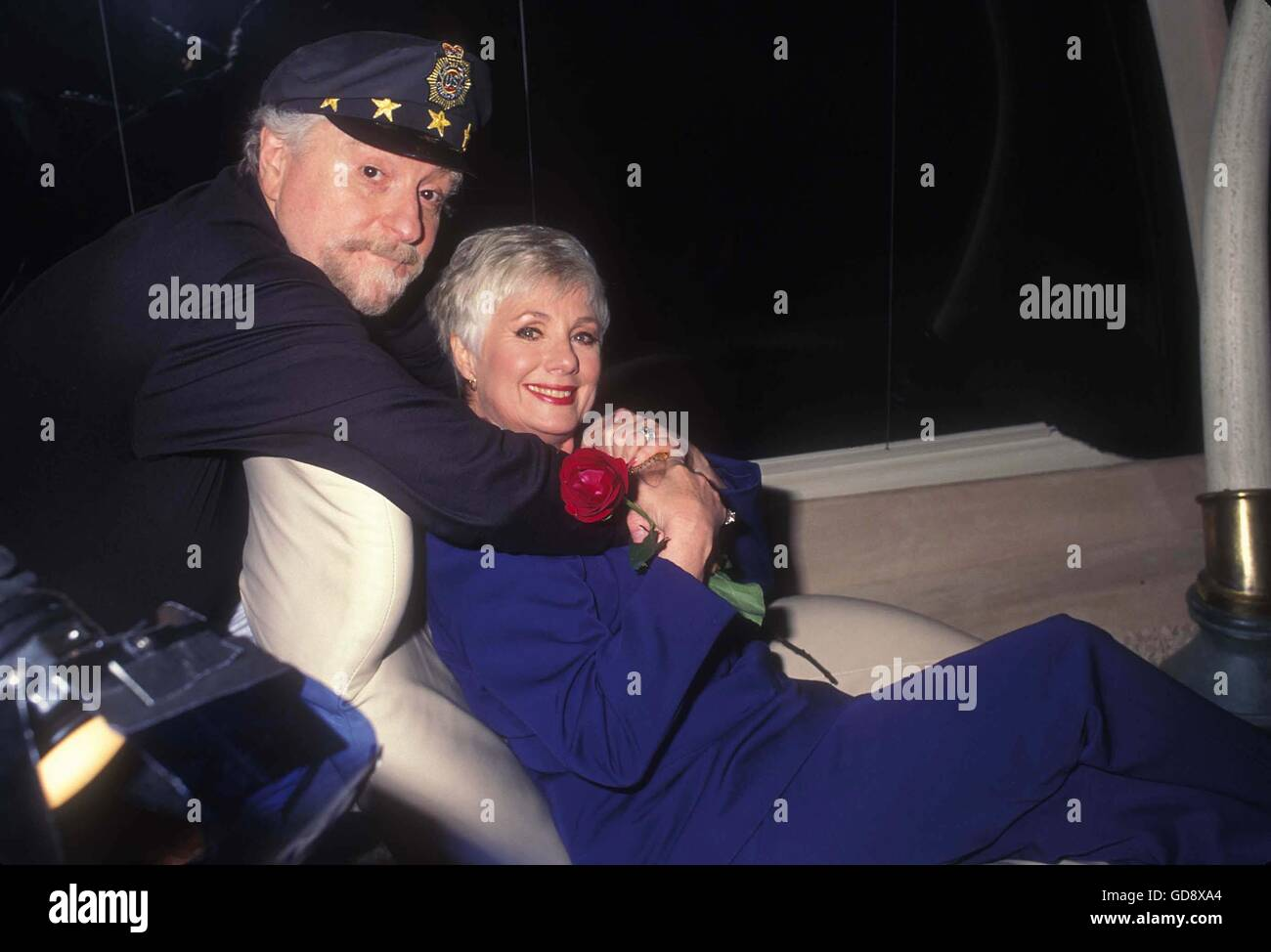 July 11, 2006 - SHIRLEY JONES WITH MARTY INGELS AT THEIR HOME, BEVERLY HILLS .ON THEIR .000.000.00 CUSTOM MADE BUS - Stock Image