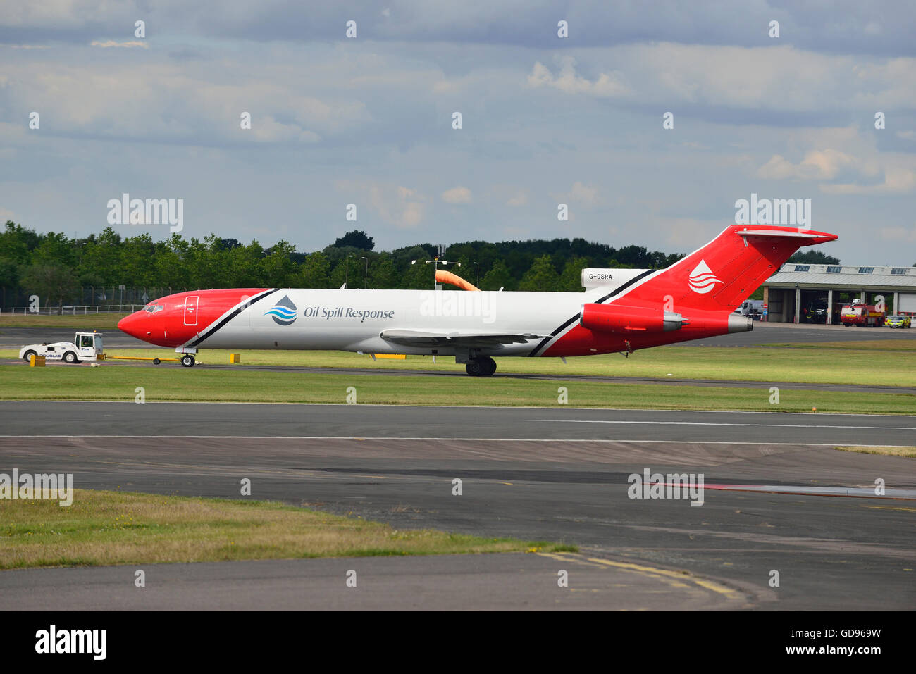 Farnborough, Hampshire, UK. 14th July, 2016. 4 th Day of the Farnborough International Trade Airshow.  Boeing 's - Stock Image