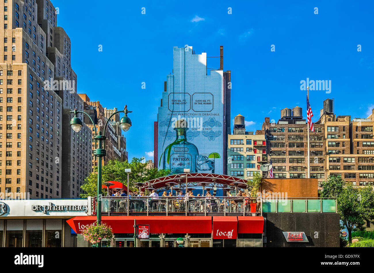 U.S.A., New York,Manhattan,people in Madison Square Garden area - Stock Image