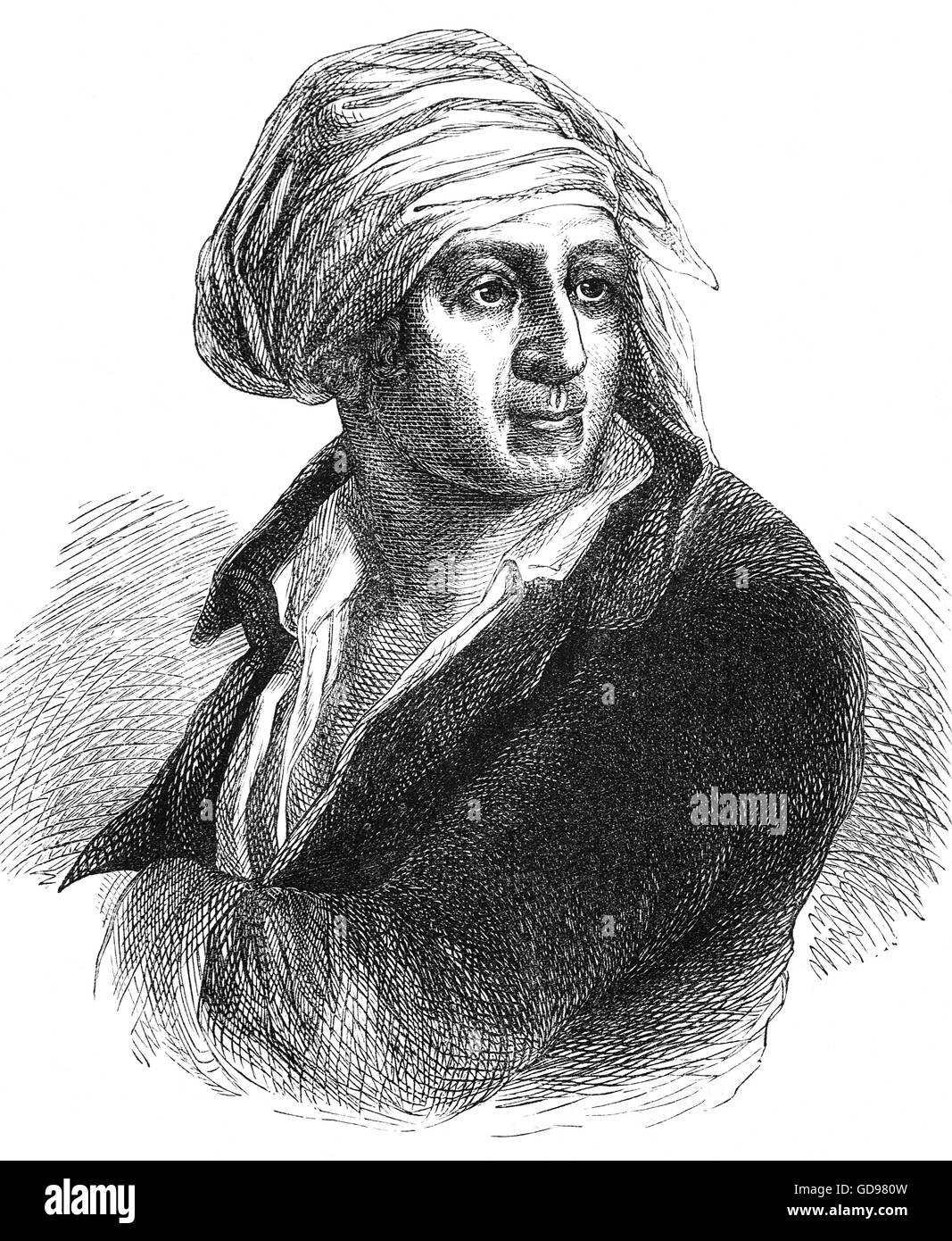 Jean-Paul Marat (1743 - 1793) was a political theorist who became a radical journalist and politician during the - Stock Image