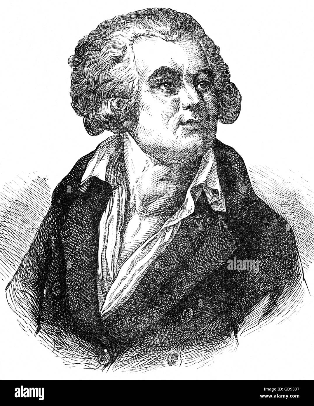 Georges Jacques Danton (1759 – 1794) was a leading figure in the early stages of the French Revolution described - Stock Image