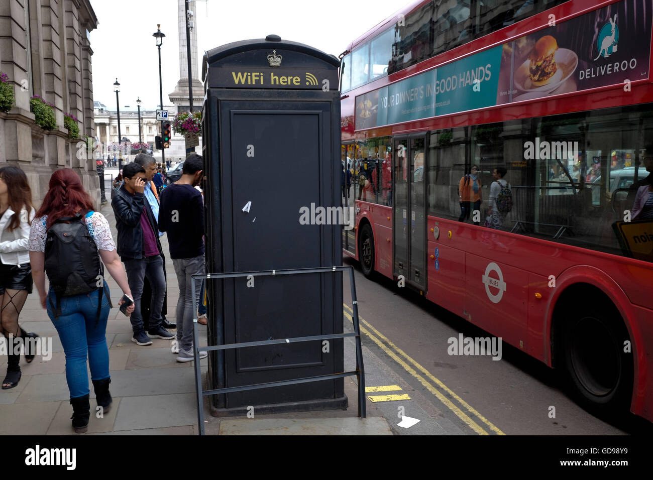 A Cloud City WiFi network point in the City of London - Stock Image