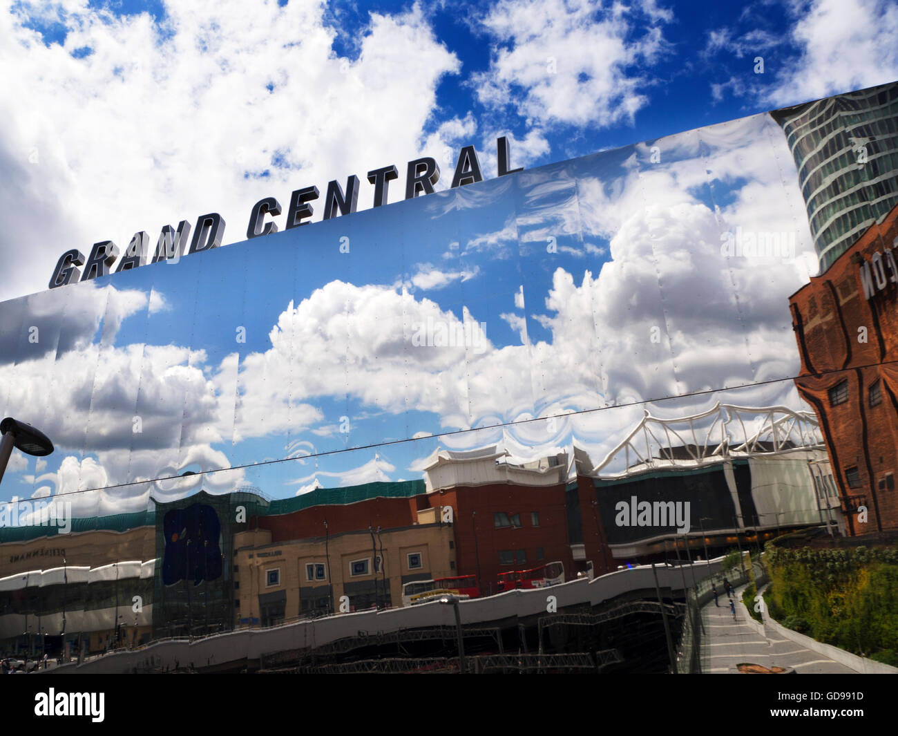 Reflections in the Grand Central Shopping Centre at New Street Station Birmingham West Midlands England - Stock Image