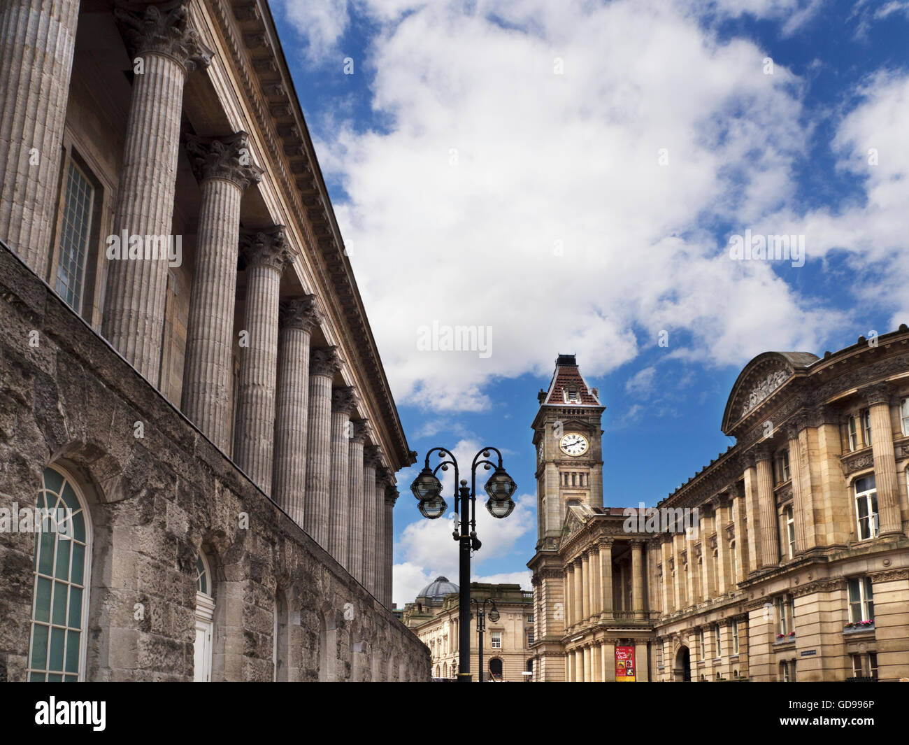 Town Hall and Council House Victoria Square Birmingham West Midlands England - Stock Image