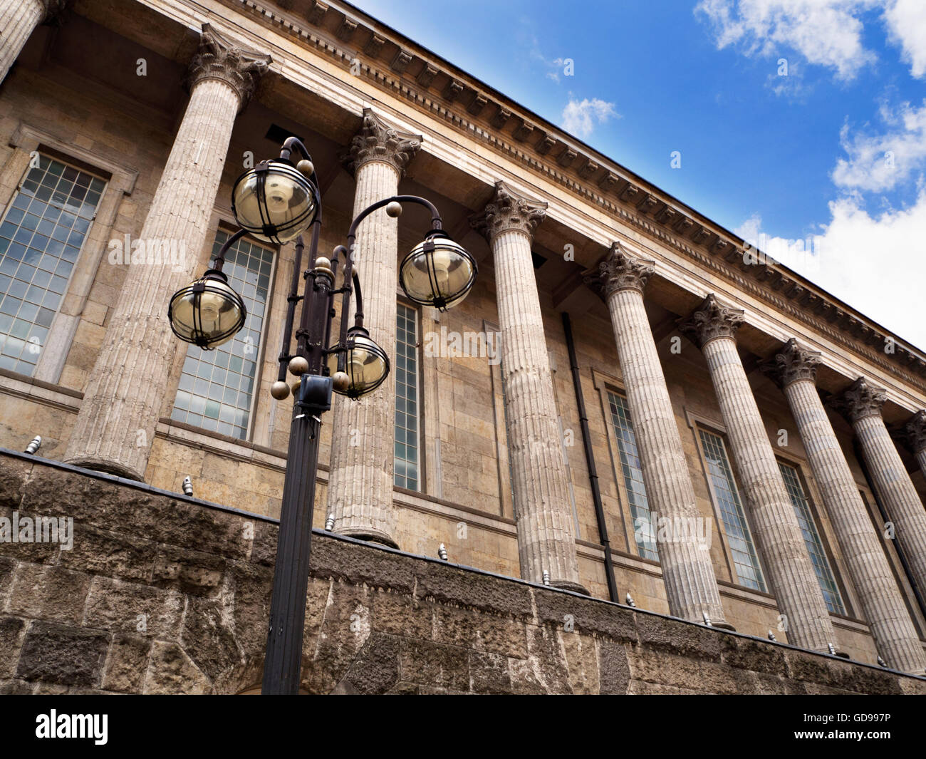 Old Lamp Standard at the Town Hall in Victoria Square Birmingham West Midlands England - Stock Image
