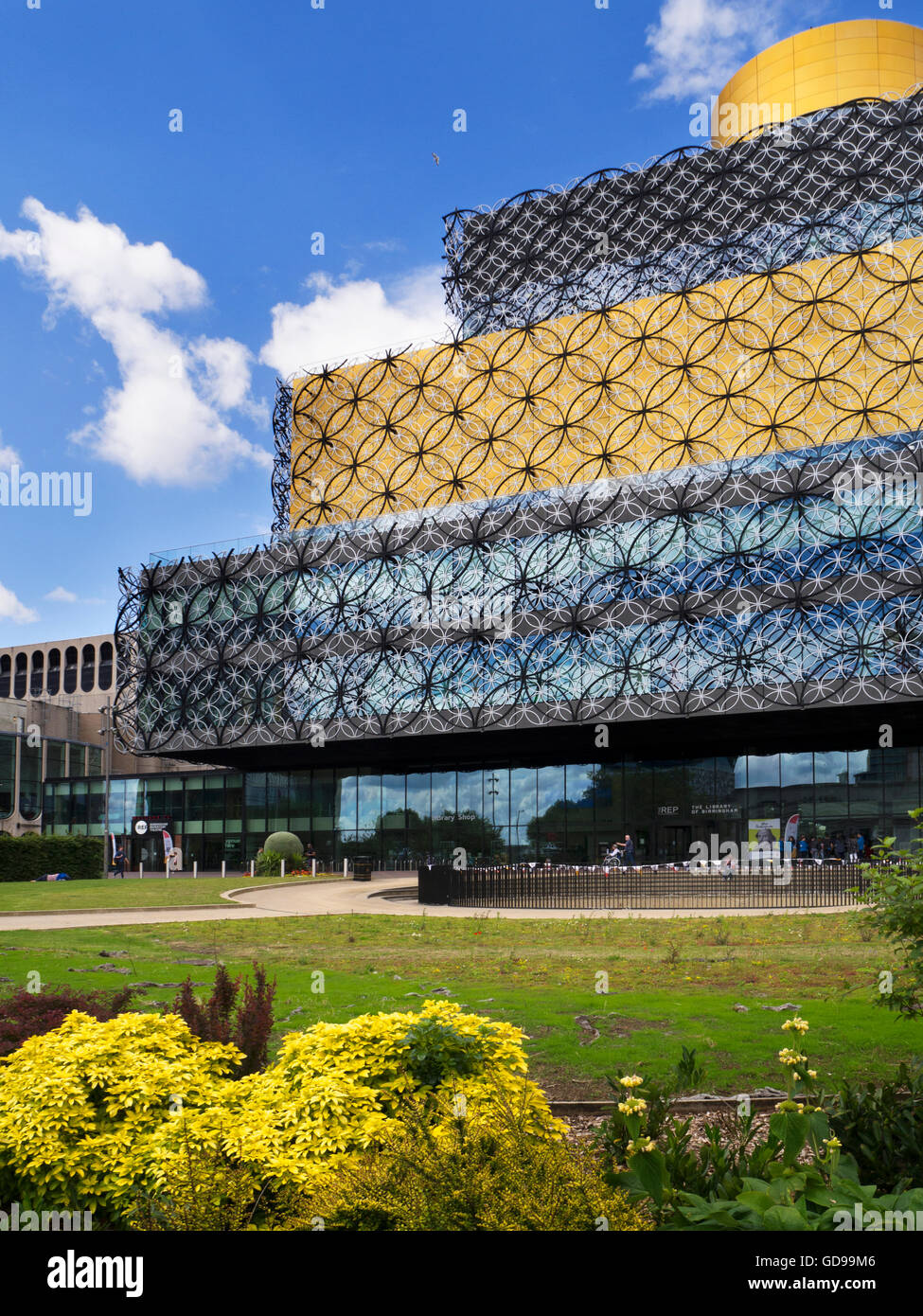 Library of Birmingham Building and The Rep in Centenary Square Birmingham West Midlands England - Stock Image