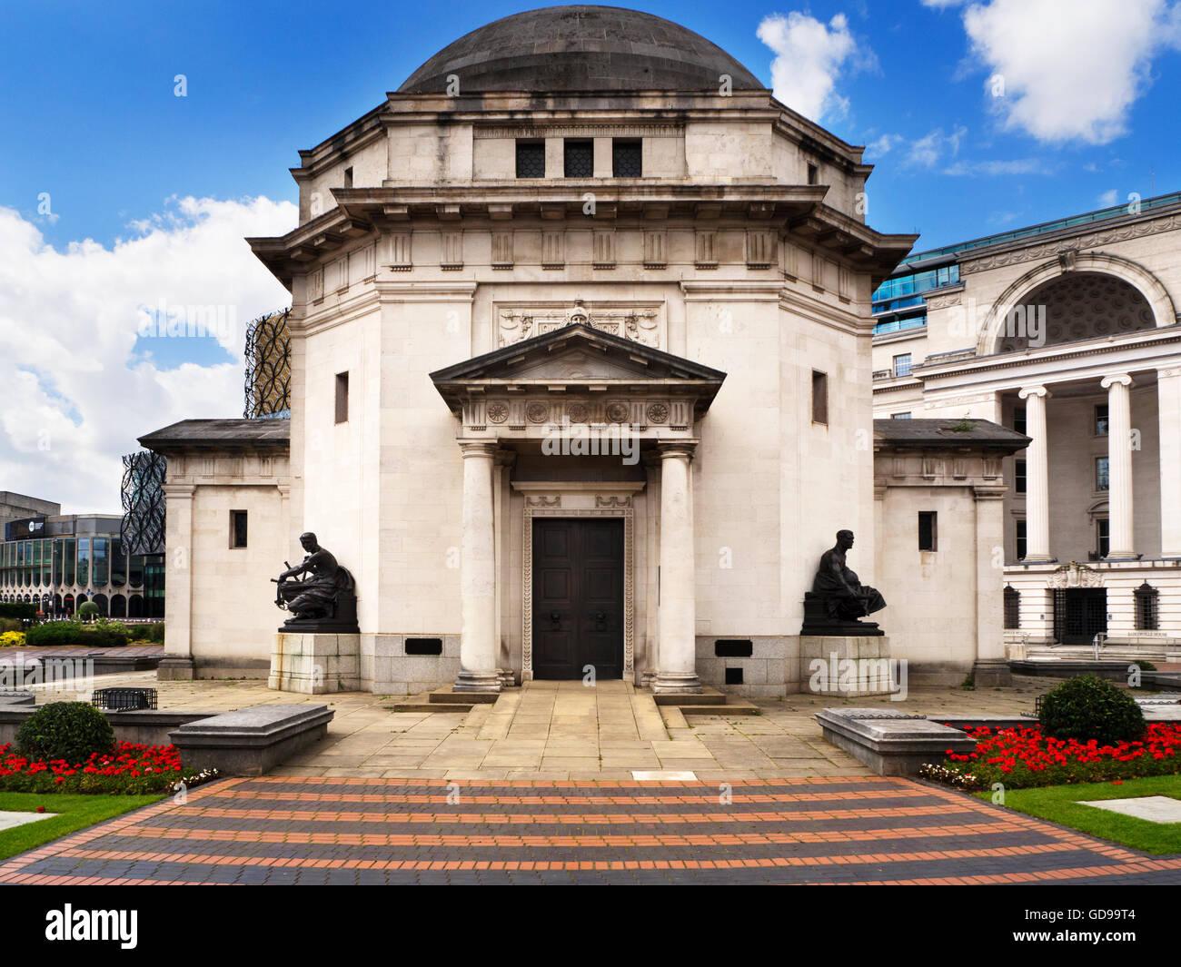 Hall of Memory War Memorial in Centenary Square Birmingham West Midlands England - Stock Image