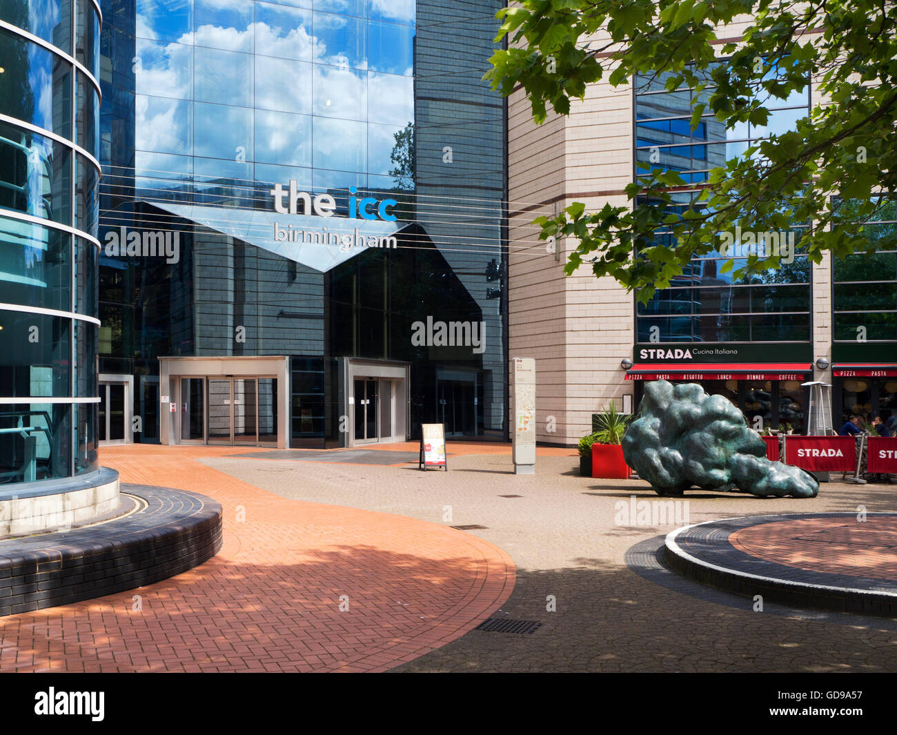 International Convention Centre from Brindley Place Birmingham West Midlands England - Stock Image