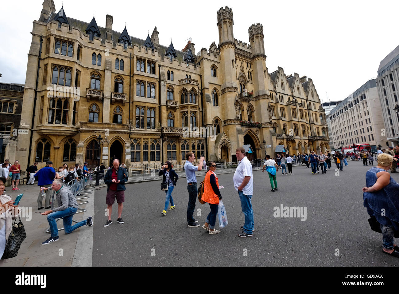 Dean's Yard, Westminster, a London landmark - Stock Image