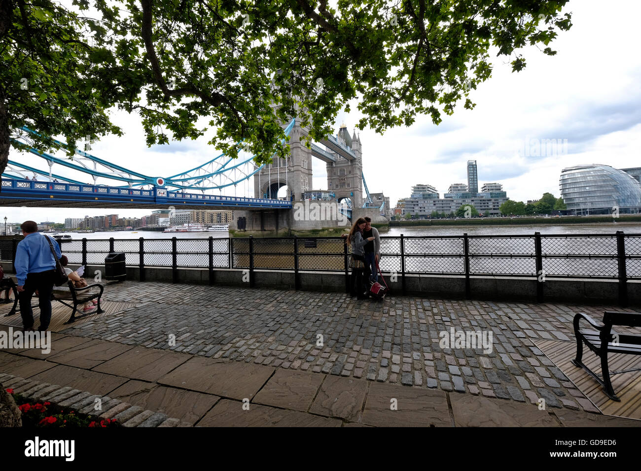 Tower Bridge from Victoria Embankment - Stock Image