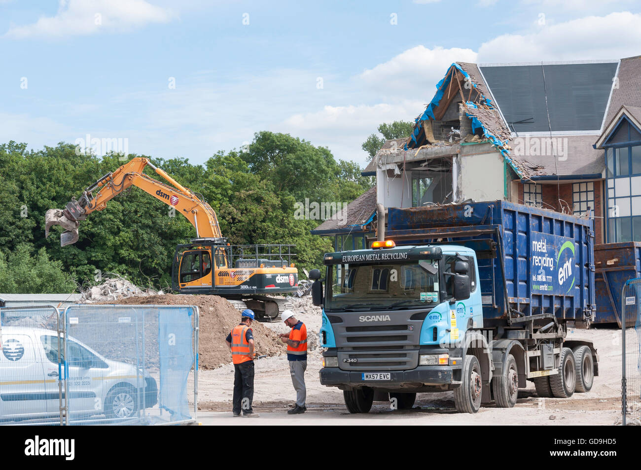 Building demolition, Swan Street,  Isleworth, London Borough of Hounslow, Greater London, England, United Kingdom - Stock Image