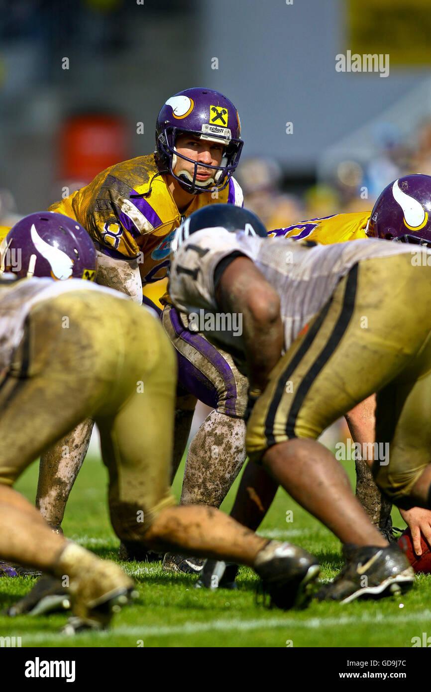 American football, Vienna Vikings vs Prague Panthers in the Austrian Football League, Stadium Hohe Warte, Vienna, - Stock Image