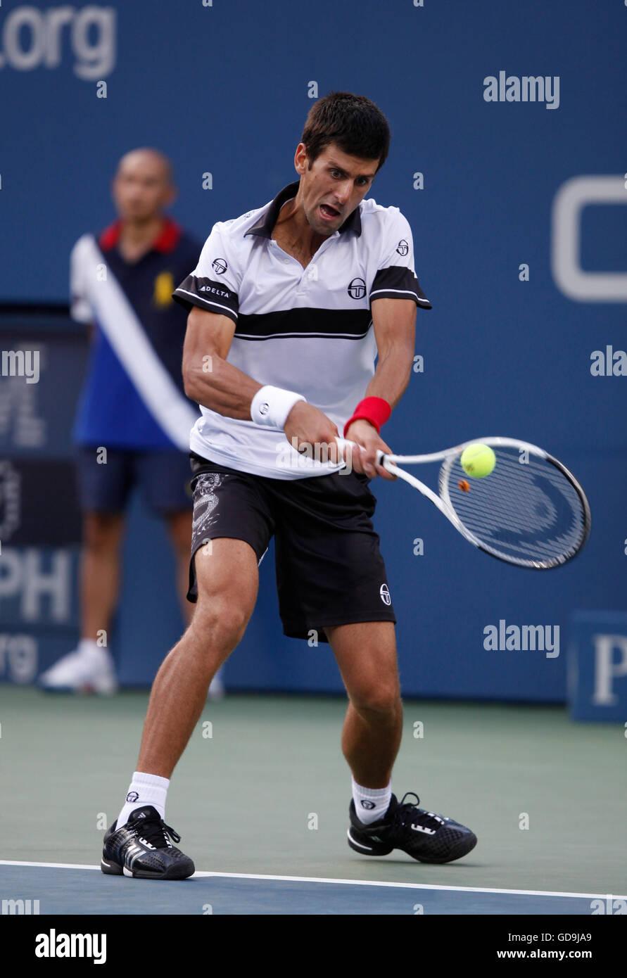Novak Djokovic, SRB, 2010 U.S. Open, ITF Grand Slam Tennis Tournament, USTA Billie Jean King National Tennis Center - Stock Image
