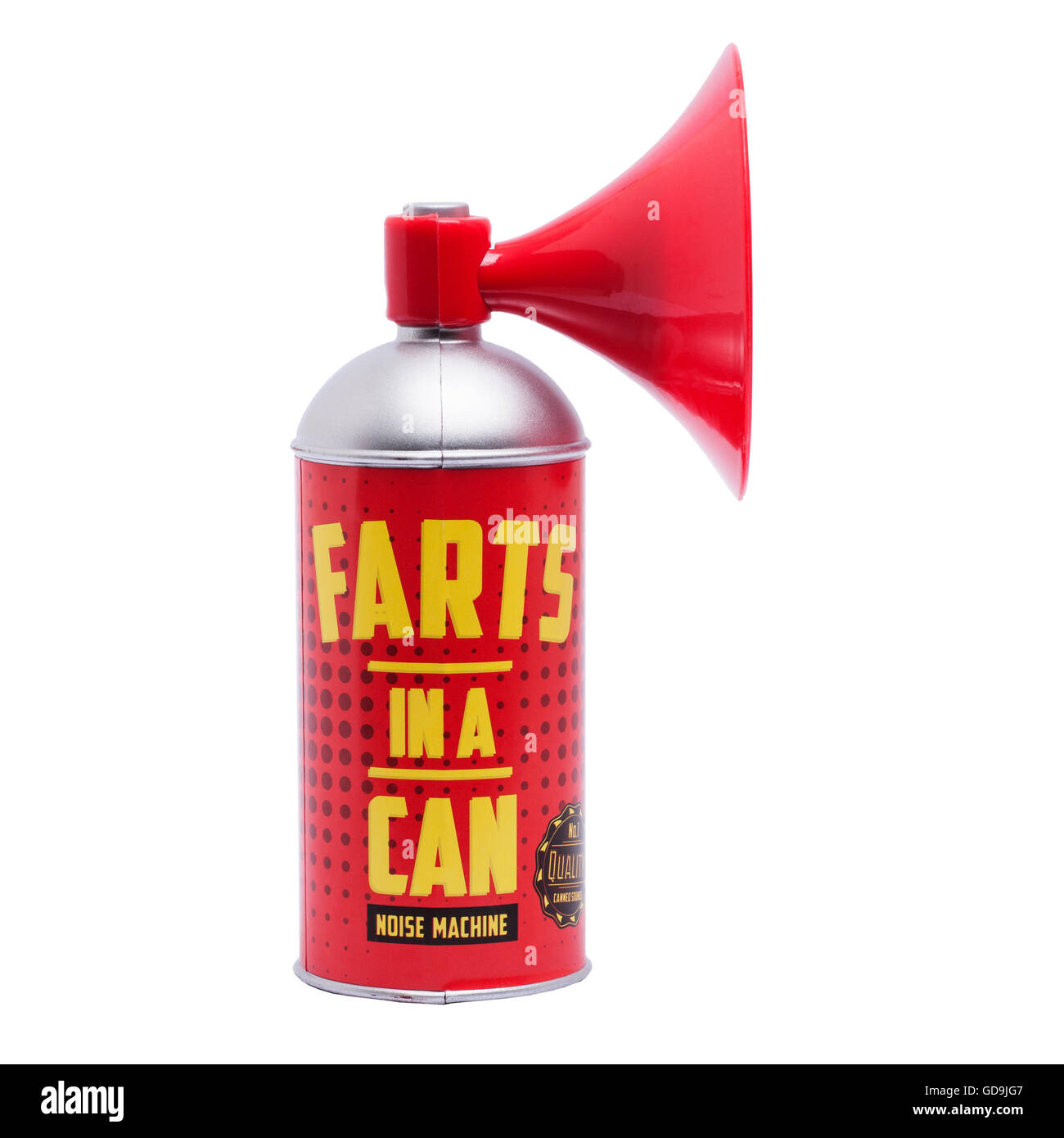 A tin of farts in a can on a white background - Stock Image